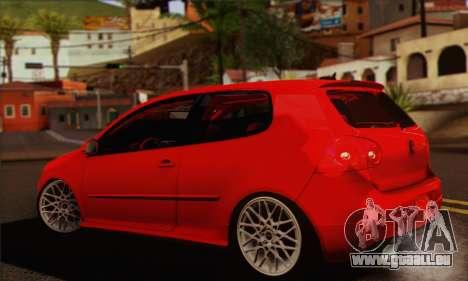 Volkswagen Golf 5 pour GTA San Andreas laissé vue