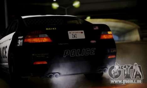Vapid Police Interceptor from GTA V pour GTA San Andreas vue intérieure