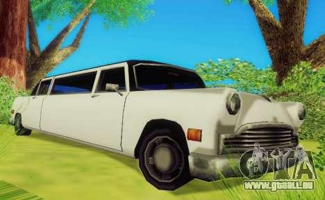 Cabbie Limousine pour GTA San Andreas laissé vue
