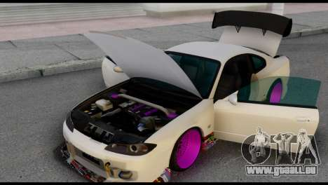 Nissan Silva S15 Turkish Drift für GTA San Andreas rechten Ansicht