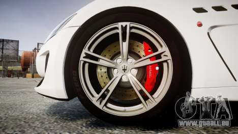 Maserati GranTurismo MC Stradale 2014 [Updated] für GTA 4 Rückansicht