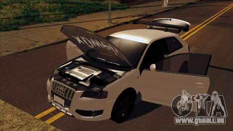 Audi S3 Tuned 2007 pour GTA San Andreas vue de droite