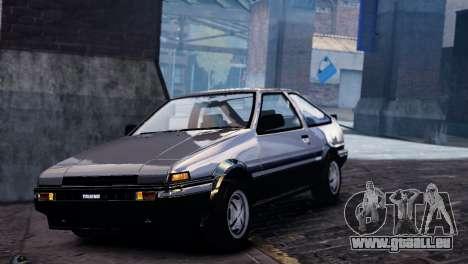 Toyota Sprinter Trueno AE86 Zenki für GTA 4 Innenansicht