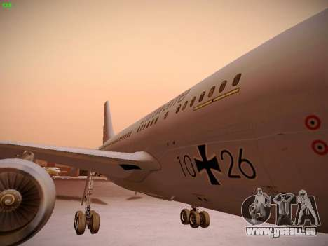 Airbus A310 MRTT Luftwaffe (German Air Force) für GTA San Andreas obere Ansicht