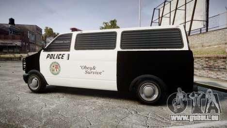 Declasse Burrito Police Transporter LED [ELS] für GTA 4 linke Ansicht
