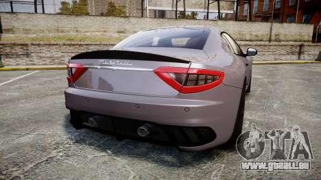 Maserati GranTurismo MC Stradale 2014 [Updated] für GTA 4 hinten links Ansicht