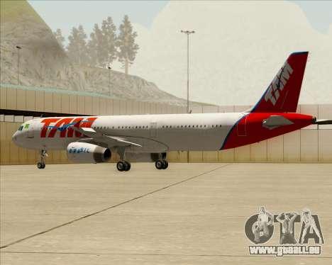 Airbus A321-200 TAM Airlines pour GTA San Andreas vue de dessous