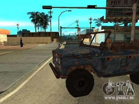 La Police UAZ de Stalker pour GTA San Andreas laissé vue