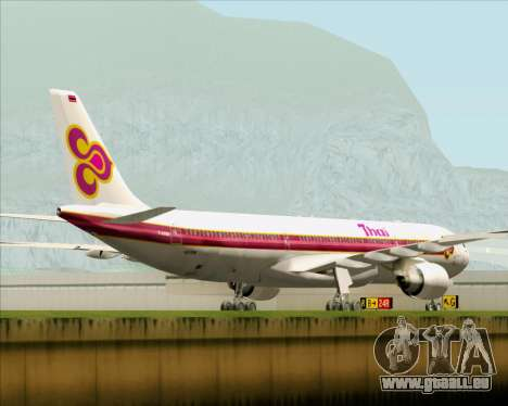 Airbus A330-300 Thai Airways International für GTA San Andreas Rückansicht