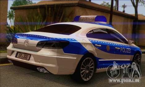 Volkswagen Passat CC Polizei 2013 v1.0 pour GTA San Andreas laissé vue