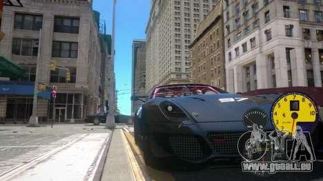Les Capteurs De La Machine pour GTA 4 troisième écran