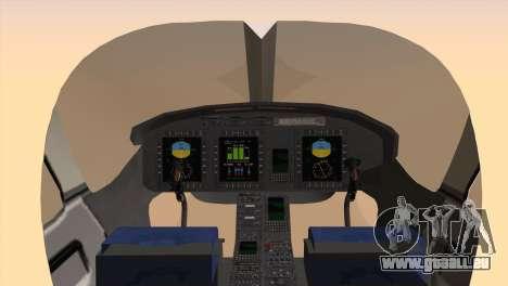 Bell 429 v3 pour GTA San Andreas sur la vue arrière gauche