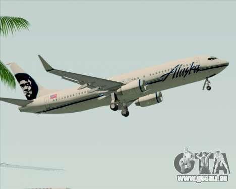 Boeing 737-890 Alaska Airlines für GTA San Andreas Seitenansicht