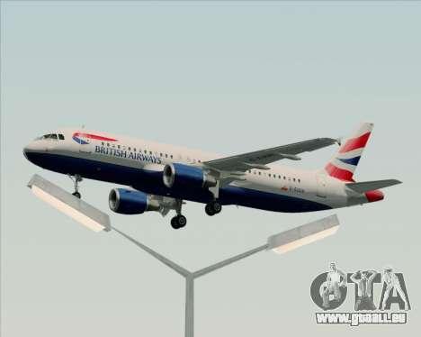 Airbus A320-232 British Airways pour GTA San Andreas salon