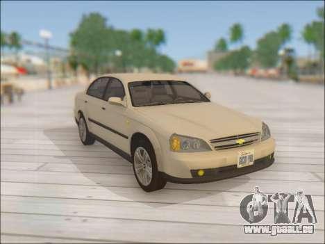 Chevrolet Evanda pour GTA San Andreas vue de côté