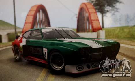 Ford Capri RS Cosworth 1974 Skinpack 2 pour GTA San Andreas vue intérieure