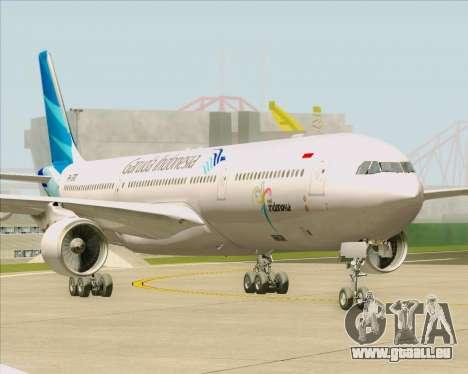 Airbus A330-300 Garuda Indonesia pour GTA San Andreas sur la vue arrière gauche