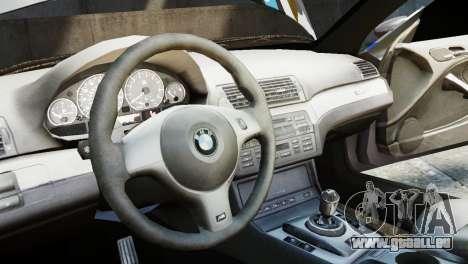 BMW M3 E46 Emre AKIN Edition für GTA 4 Rückansicht