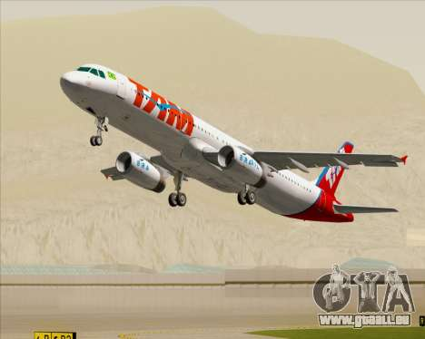 Airbus A321-200 TAM Airlines für GTA San Andreas Motor