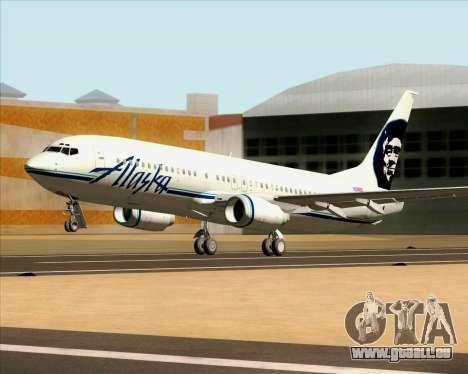 Boeing 737-890 Alaska Airlines für GTA San Andreas Innenansicht