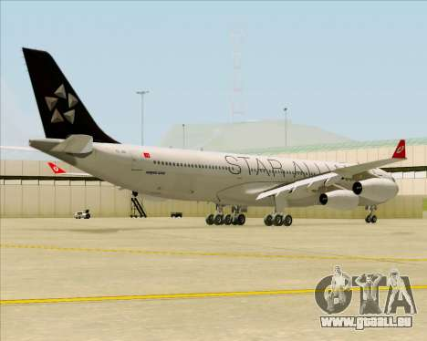 Airbus A340-311 Turkish Airlines (Star Alliance) pour GTA San Andreas vue de droite