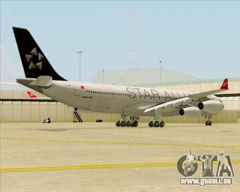Airbus A340-311 Turkish Airlines (Star Alliance) pour GTA San Andreas vue de droite