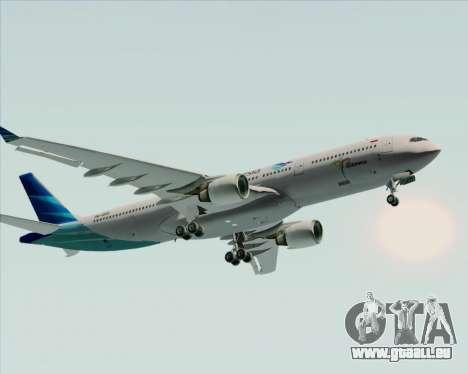 Airbus A330-300 Garuda Indonesia für GTA San Andreas obere Ansicht