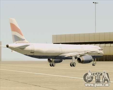 Airbus A321-200 British Airways pour GTA San Andreas vue de dessous