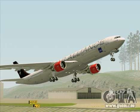 Airbus A330-300 SAS (Star Alliance Livery) für GTA San Andreas Unteransicht