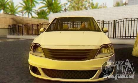 Dacia Logan White für GTA San Andreas Rückansicht