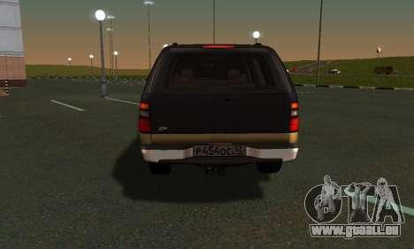 GMC Yukon XL ФСБ für GTA San Andreas Rückansicht