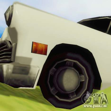 Cabbie Limousine für GTA San Andreas Rückansicht