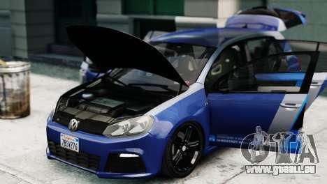 Volkswagen Golf R 2010 ABT Paintjob für GTA 4 rechte Ansicht