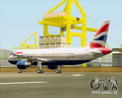 Airbus A320-232 British Airways für GTA San Andreas rechten Ansicht