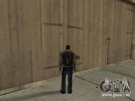 Noir sac à dos de Stalker pour GTA San Andreas cinquième écran