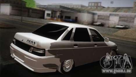 VAZ 2110 Turbo pour GTA San Andreas laissé vue