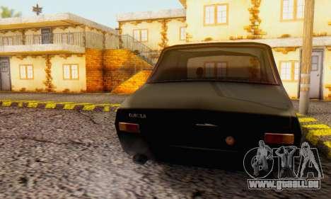 Dacia 1300 WRC Black Edition pour GTA San Andreas laissé vue