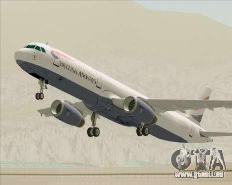 Airbus A321-200 British Airways pour GTA San Andreas roue