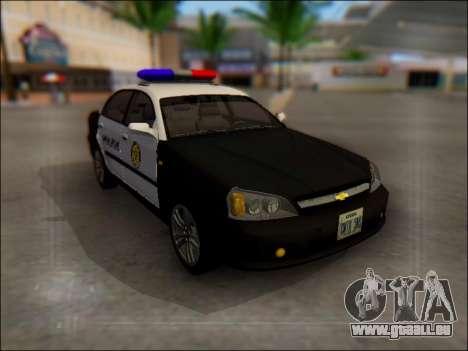 Chevrolet Evanda Police für GTA San Andreas Seitenansicht