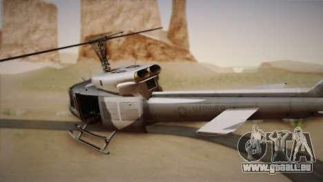 Bell UH-1N Twin Huey USMC pour GTA San Andreas laissé vue