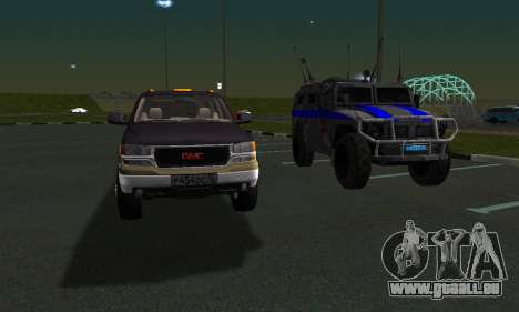 GMC Yukon XL ФСБ für GTA San Andreas obere Ansicht