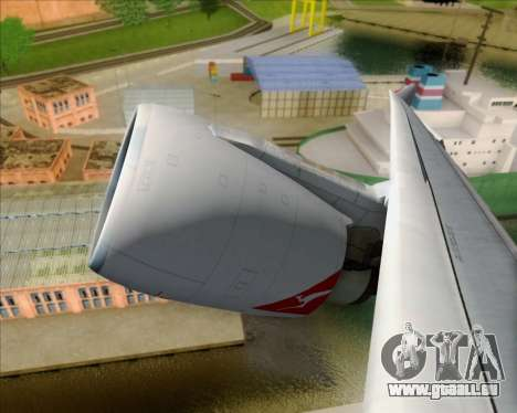 Airbus A330-200 Qantas Oneworld Livery pour GTA San Andreas vue intérieure