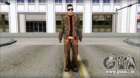 Young Bikerman Skin pour GTA San Andreas