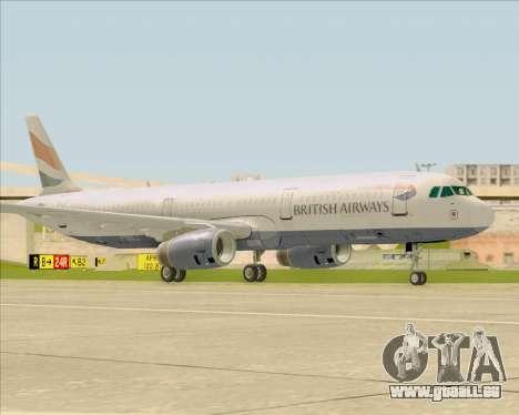 Airbus A321-200 British Airways pour GTA San Andreas laissé vue
