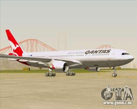 Airbus A330-200 Qantas für GTA San Andreas linke Ansicht