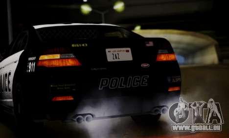 Vapid Police Interceptor from GTA V pour GTA San Andreas vue arrière