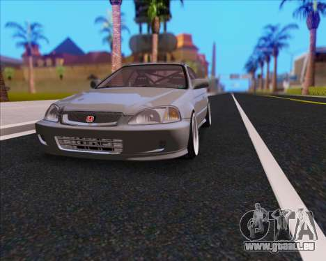Honda Civic EM1 V2 pour GTA San Andreas vue intérieure