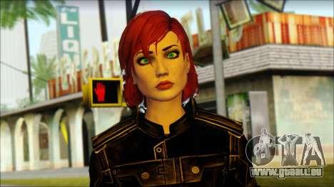 Mass Effect Anna Skin v7 pour GTA San Andreas troisième écran