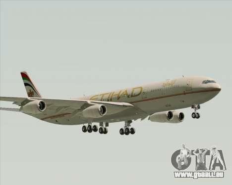 Airbus A340-313 Etihad Airways für GTA San Andreas zurück linke Ansicht