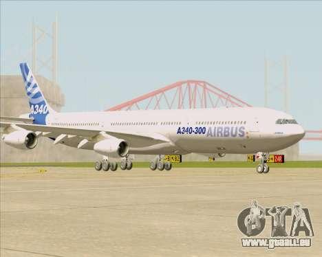 Airbus A340-311 House Colors pour GTA San Andreas laissé vue